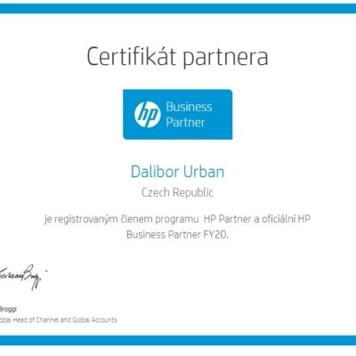 HP certifikát partnera