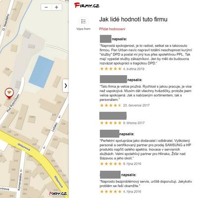 Reference na Firmy.cz